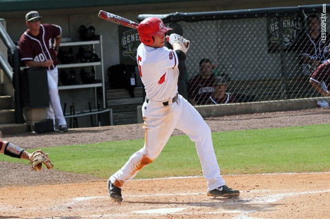 Senior shortstop Reed Harper became APSU's career hits leader with a four-hit performance in an OVC Tourney-opening victory against Eastern Kentucky, Thursday. (Courtesy: Austin Peay Sports Information)