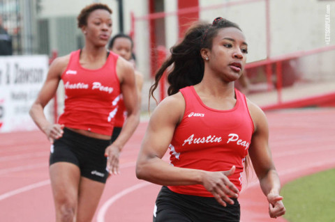 Austin Peay's Breigh Jones crushes school record in top-10 finish at NCAA East Preliminaries. (Courtesy: Brittney Sparn/APSU Sports Information)