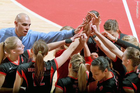 Austin Peay Volleyball. (Courtesy: Brittney Sparn/APSU Sports Information)