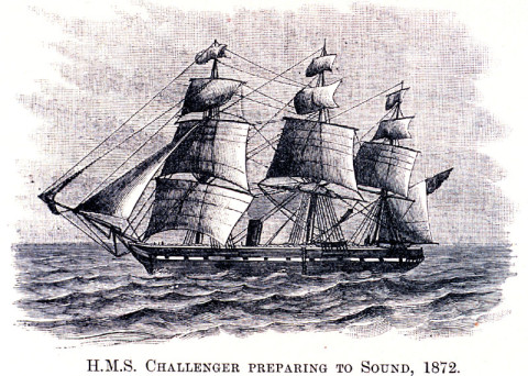 Drawing of the HMS Challenger survey vessel preparing to measure ocean temperatures by lowering thermometers deep into the ocean on ropes in 1872. A new NASA and University of Tasmania study combined the ship's 135-plus-year-old measurements of ocean temperatures with modern observations to get a picture of how the world's ocean has changed since the Challenger's voyage. The research reveals that warming of Earth can be clearly detected since 1873, with the ocean absorbing the majority of the heat. (Image credit: NOAA)