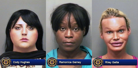 Cody Hughes, Ramonica Gainey and Riley Gatta arrested by Clarksville Police for Prostitution.