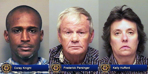 Coray Knight, Frederick Persinger and Kelly Hufford
