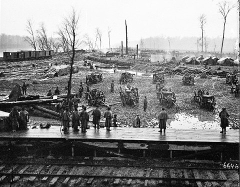 Federal Camp at Johnsonville, TN