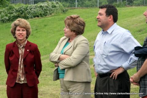 Montgomery County Mayor Carolyn Bowers, City of Clarksville Mayor Kim McMillan, State Senator Mark Green