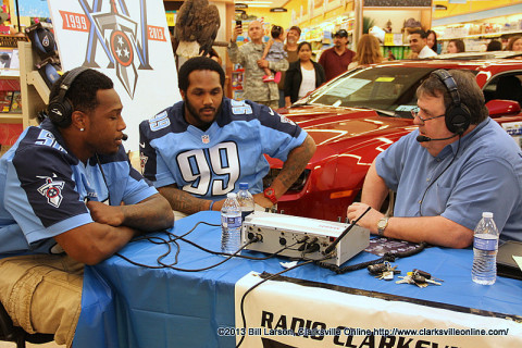 Greg Walker from WJZM 1400 AM interviews  linebacker Akeem Ayers, and defensive tackle Jurrell Casey.