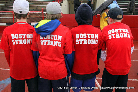 Boston strong in honor of the victims of the 2013 Boston Marathon Bombings