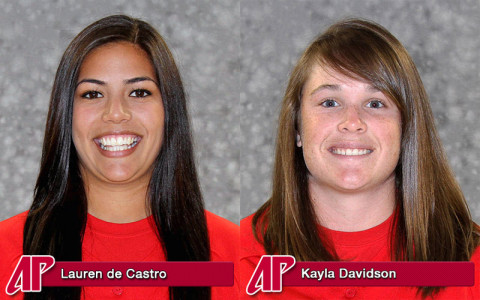 Austin Peay Softball's Lauren de Castro and Kayla Davidson honored by OVC.