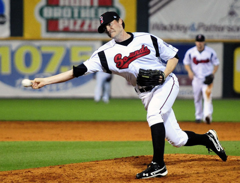 Nashville Sounds' Tim Dillard. (Michael Strasinger - Nashville Sounds)