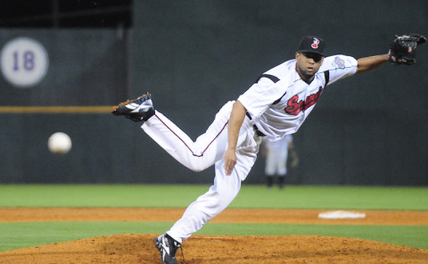 Nashville Sounds Pitcher K-Rod. (Michael Strasinger - Nashville Sounds)