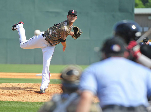 Nashville Sounds starting pitcher Johnny Hellweg. (Mike Strasinger / SportsNashville.net)