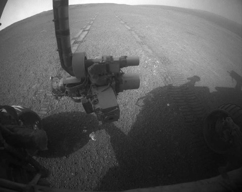 On the 3,309th Martian day, or sol, of its mission on Mars (May 15th, 2013) NASA's Mars Exploration Rover Opportunity drove 263 feet (80 meters) southward along the western rim of Endeavour Crater. (Credit: NASA/JPL-Caltech)