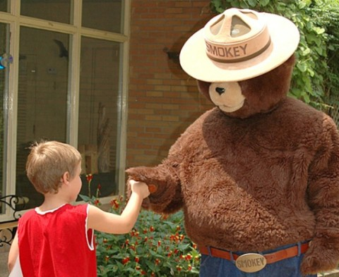 Smokey Bear to be at LBL's River Days Saturday, May 25th. (Land Between the Lakes)