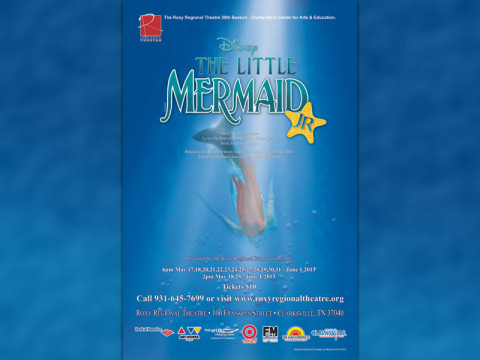 """The Little Mermaid Jr."" at the Roxy Regional Theatre starting May 17th."