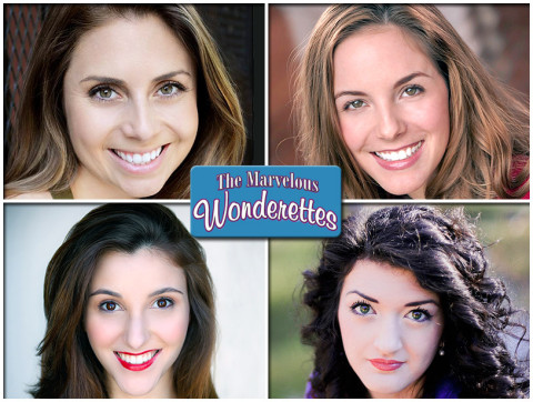 """The Marvelous Wonderettes"" starts May 31st at the Roxy Regional Theatre. The show features (Top: L to R) Ashley Harris and Heather Gault. (Bottom: L to R) Elena Pascullo and Taylor Galvin."