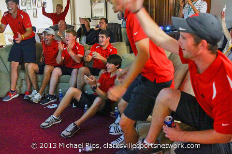 Austin Peay Mens Golf Team reacts to NCAA Announcement.