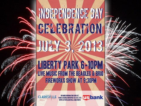 Celebrate Independence Day at Clarksville's Liberty Park July 3rd
