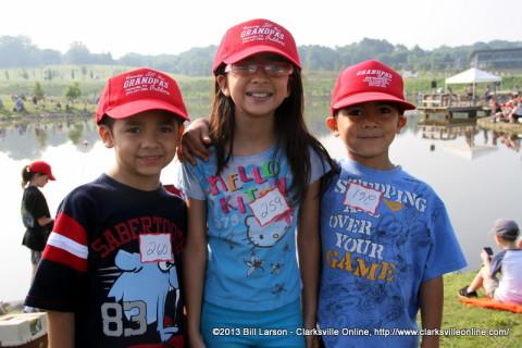 Siblings at the 2013 TWRA Youth Fishing Rodeo at Liberty Park