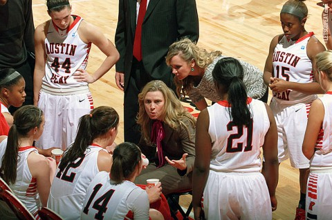 Austin Peay head women's basketball coach Carrie Daniels was one of 35 coaches selected to attend the WBCA Center for Coaching Excellence. (Brittney Sparn/APSU Sports Information)