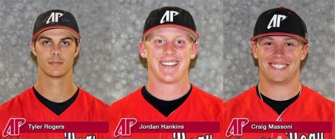 APSU's Tyler Rogers, Jrodan Hankins and Craig Massoni