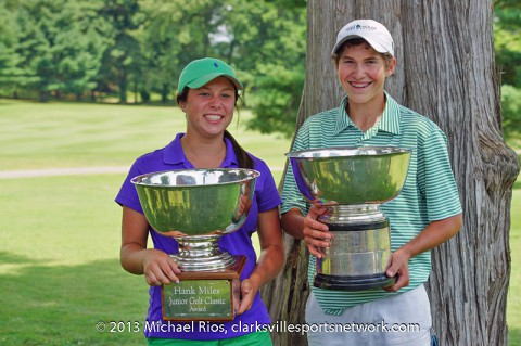 Alexa Rippy and Hunter Richardson are the 2013 Hank Miles Junior City Amateur Champions.