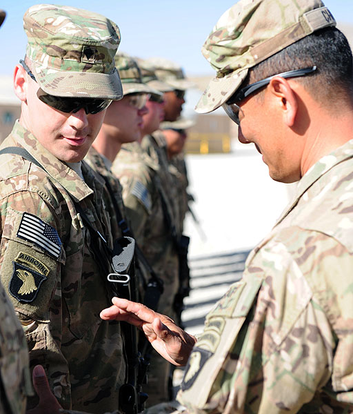 Fort Campbell Currahee Soldiers receive Combat Patch on D