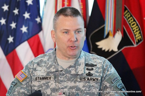 Brig. Gen. Mark Stammer, the acting commander of Fort Campbell, KY, while the 101st Airborne Division is deployed to Afghanistan