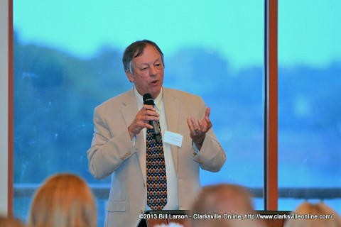 Frye Gaillard was the keynote speaker at the Clarksville Writers' Conference banquet held June 6th at Liberty Park's Freedom Point.