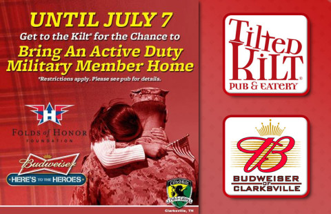 """Here's to Heroes"" Fundraiser at Tilted Kilt"
