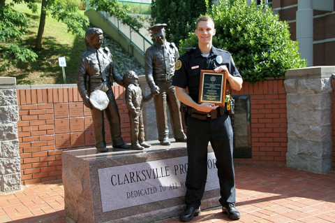 John Cunningham won the Outstanding Officer Award.