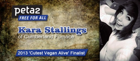 2013 'Cutest Vegan Alive' Finalist Kara Stallings