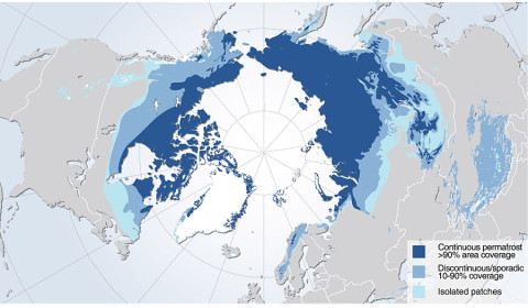 Permafrost zones occupy nearly a quarter of the exposed land area of the Northern Hemisphere. NASA's Carbon in Arctic Reservoirs Vulnerability Experiment is probing deep into the frozen lands above the Arctic Circle in Alaska to measure emissions of the greenhouse gases carbon dioxide and methane from thawing permafrost - signals that may hold a key to Earth's climate future. (Image credit: Hugo Ahlenius, UNEP/GRID-Arendal)
