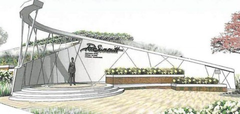 Artist rendering of the University of Tennessee's Pat Summitt Plaza