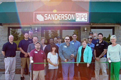 Sanderson Pipe Green Certification Ribbon Cutting.