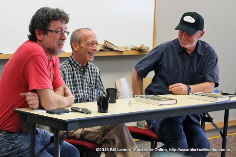 (L to R) Tom Franklin, Dale Ray Phillips and George Singleton on the Grit Lit Panel.