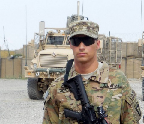 Sgt. Corey Slayton, of A Troop, 1st Squadron, 61st Cavalry Regiment, 4th Brigade Combat Team, 101 Airborne Division (Air Assault) (U.S. Army Photo)