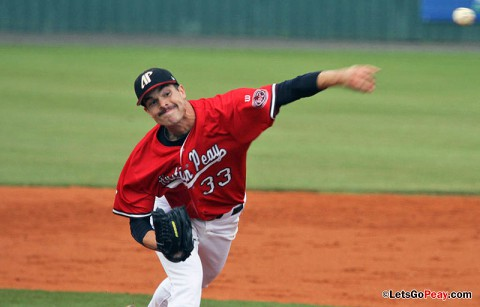 Jack Snodgrass, seen here pitching for the Austin Peay Govs, was named to the Eastern League All-Star Game for the second consecutive year. (APSU Sports Information)