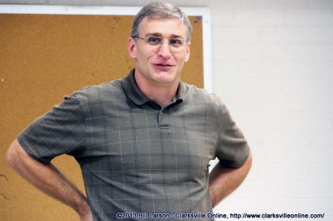 Clarksville High School's new  Wrestling Coach Tommy Baden.