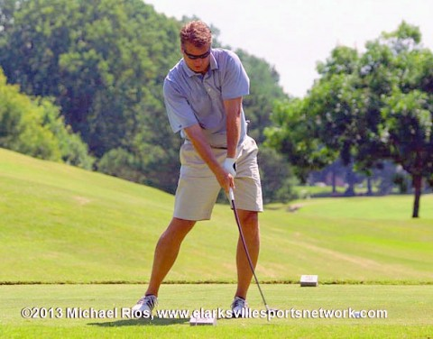Todd Morris tees off during the Clarksville City Amateur Golf Championship