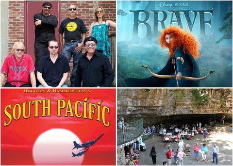"Clarksville Events this weekend include ""Bicho Brothers Band"" playing at Jazz on the Lawn, ""Brave"" at Movies in the Park, ""South Pacific"" at the Roxy Theatre, and ""Cooling at the Cave"" at Dunbar Cave."