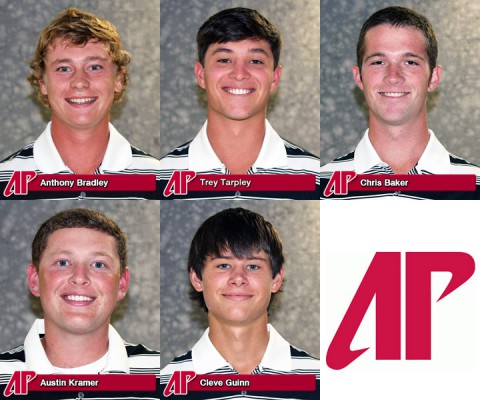 Austin Peay Golfers Anthony Bradley, Trey Tarpley, Chris Baker, Austin Kramer and Cleve Guinn qualify for Tennessee State Amateur Golf Tournament.