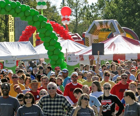 Signups for the American Heart Association's Greater Nashville Heart Walk going on now.