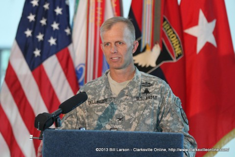 Garrison Commander for Fort Campbell, Col. David L. Dellinger