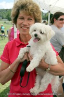 Clarksville mayor Kim McMillan and her dog Stevie Ray, a Maltese
