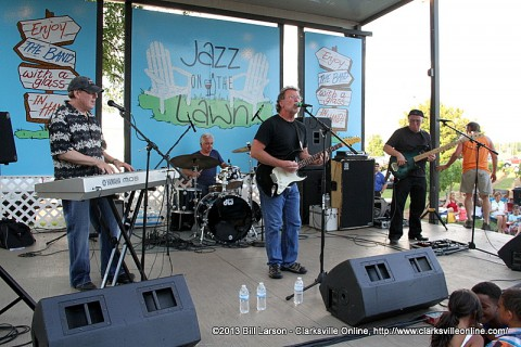 The Jim Gibson Band play at Jazz on the Lawn this Saturday.