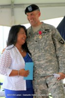 Christine Walrath shares a laugh with her husband Col. Daniel R. Walrath