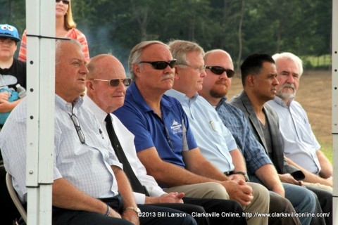 Dignitaries at the Groundbreaking for Richellen Park