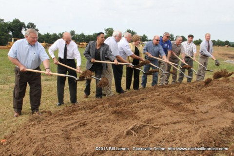 The groundbreaking for Richellen Park in southern Montgomery County