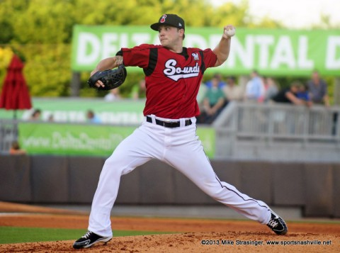 Nashville Sounds' Aaron Laffey.