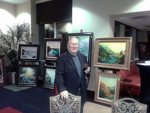 Larry Martin's Paintings at Planters Bank Hilldale Gallery in July