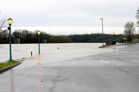 McGregor Park Boat Ramp during May flood.